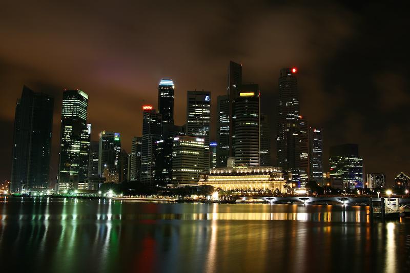 Die Skylines dieser Welt - Singapore - von Oliver Schäf