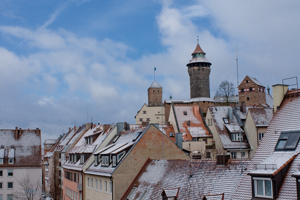 Der erste Schnee in Nürnberg