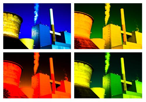 Ein Kraftwerk in Bunt und Farbe