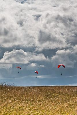 Paraglider am Hesselberg