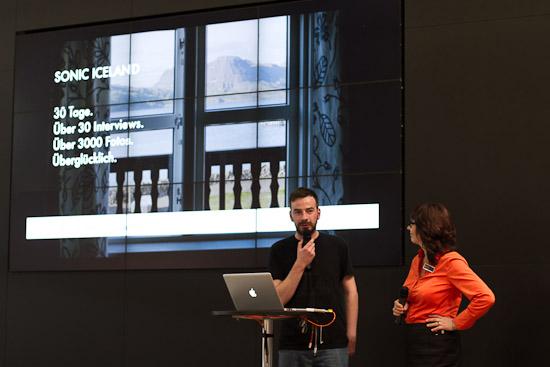 Kai während seines Vortrages auf dem Leica-Stand